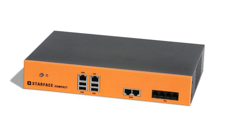 Ab sofort gibt es zur VoIP-TK-Anlage Starface compact (Bild) für Unternehmen Minutenkontingente in drei abgestuften Versionen.