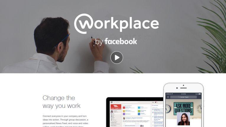 """Mit der Online-Plattform """"Workplace by Facebook"""" will der Social Media Riese Facebook Mitarbeiter in Unternehmen vernetzen."""
