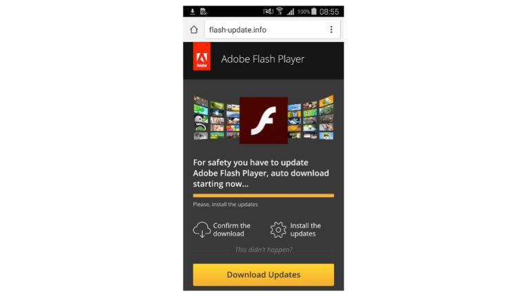 Gefälschtes Flash-Player-Update für Android