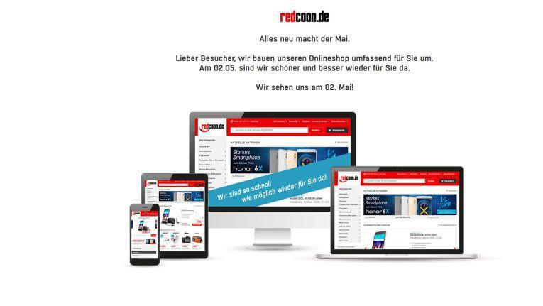 Seit dem 2. Mai 2017 ist der Webshop von Redcoon wieder online