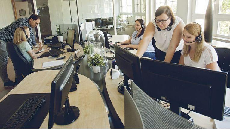 Die neue Workplace-Umgebung bei Intertours fördert und erleichtert die Teamarbeit für die Mitarbeiter.