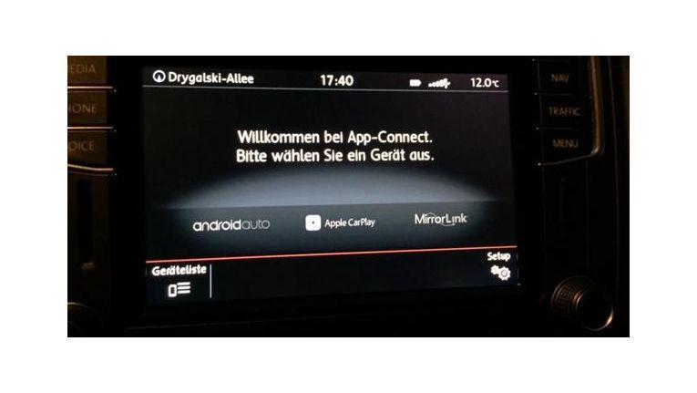Startbildschirm von App Connect