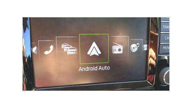 Android Auto im Auswahlmenü des Skoda