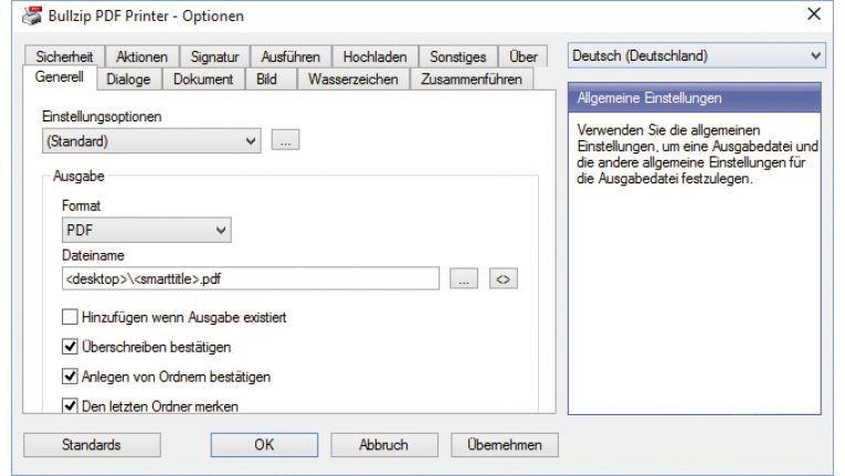 Bullzip PDF Printer erstellt für Sie auf Wunsch PDF-Dateien aus jeder Windows-Applikation heraus.