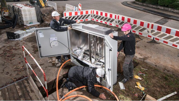 Netzausbau der Telekom: In Düsseldorf will sie 200 Kilometer neue Glasfaserleitungen verlegen.