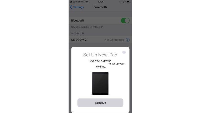 Neue iOS-Geräte lassen sich in Zukunft einfach mit schon vorhandenen Koppeln, um so die AppleID mitsamt Informationen auszutauschen. Ein einfaches Scannen eines QR-Codes auf dem jeweiligen Gerät genügt.